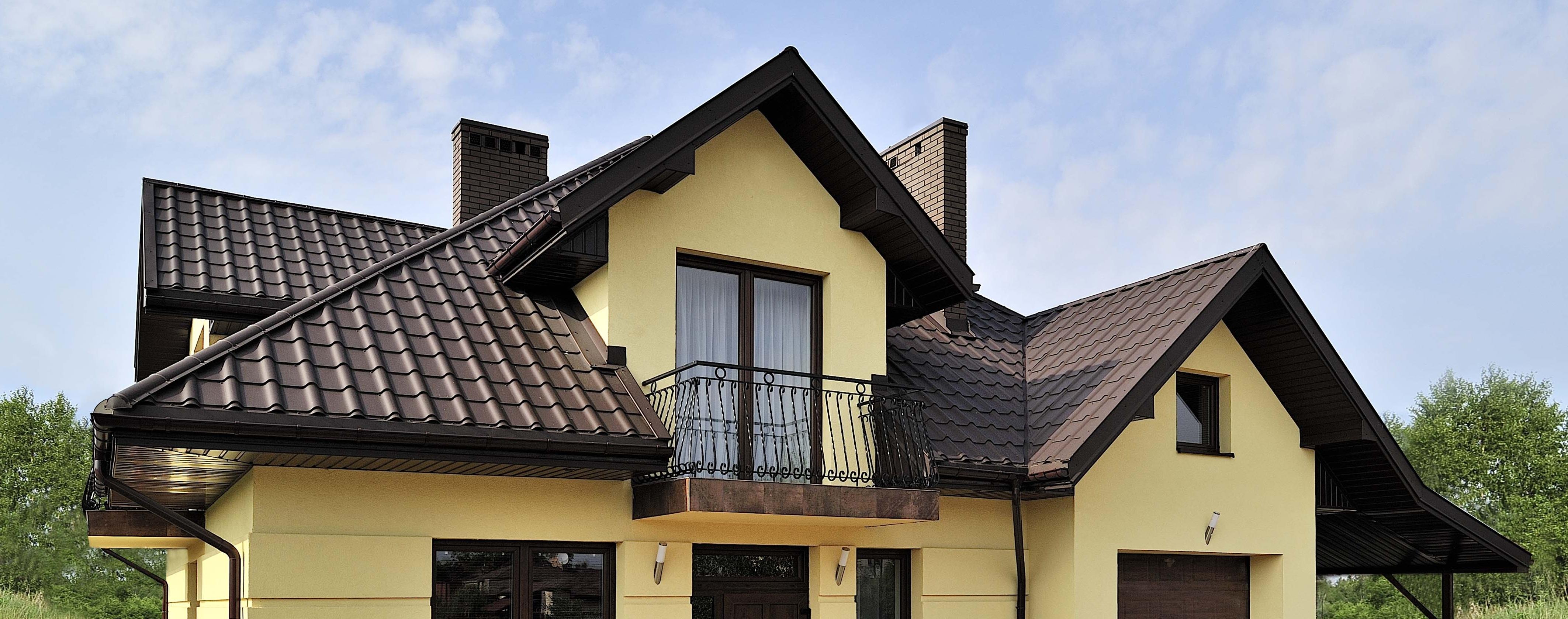 дом с дымоходом